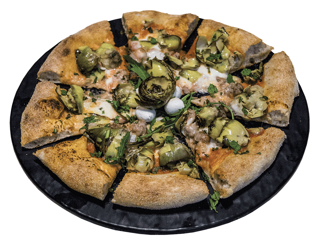 La spinosa, pizza ai carciofi gourmet Apud Jatum